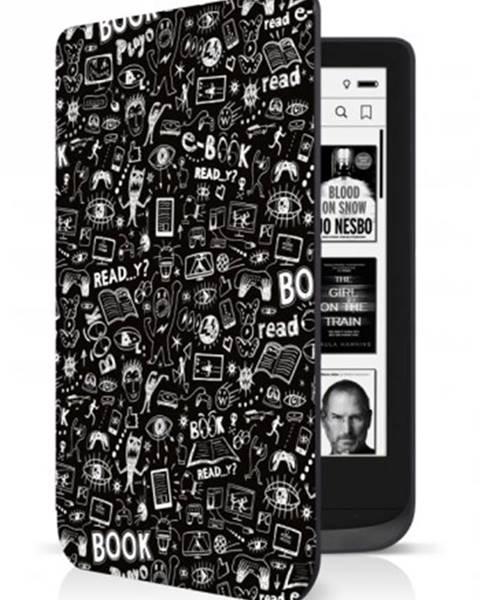 Connect IT Puzdro Connect IT pre PocketBook 616/627/632, doodle čierne