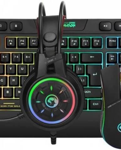Set Marvo CM305, herný, klávesnica+myš+slúchadla, CZ/SK, čierna