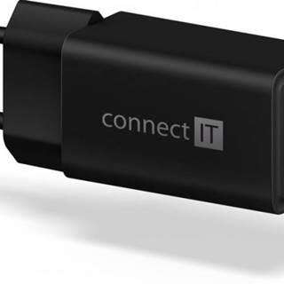 Nabíjačka Connect IT 1xUSB TypC, PD Fast Charge, 18W, čierna