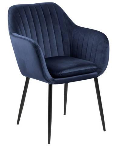 stolička s podrúčkami Emilia Tmavá Modrá