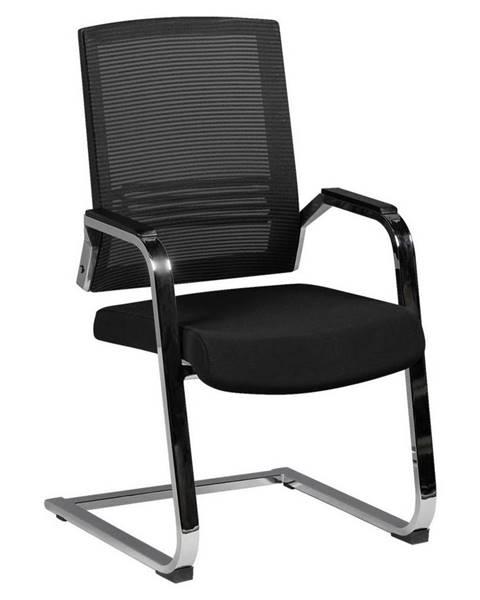 Möbelix konferenčná stolička Apollo A3 Čierna