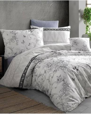 BedTex Bavlnené obliečky Alegra sivá, 140 x 200 cm, 70 x 90 cm