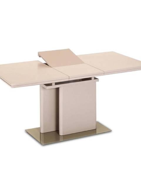 Tempo Kondela Virat rozkladací jedálenský stôl capuccino vysoký lesk