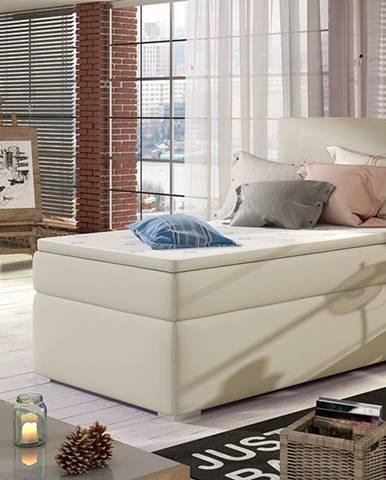 Rodrigo 90 L čalúnená jednolôžková posteľ s úložným priestorom béžová
