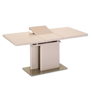 Virat rozkladací jedálenský stôl capuccino vysoký lesk