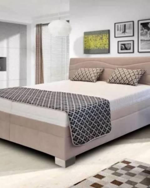 OKAY nábytok Čalúnená posteľ Windsor 200x200 vrátane pol.roštu, bez matracov