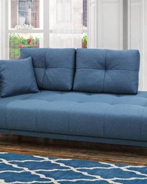 OKAY nábytok Leňoška Bony s úložným priestorom, ľavá strana, modrá