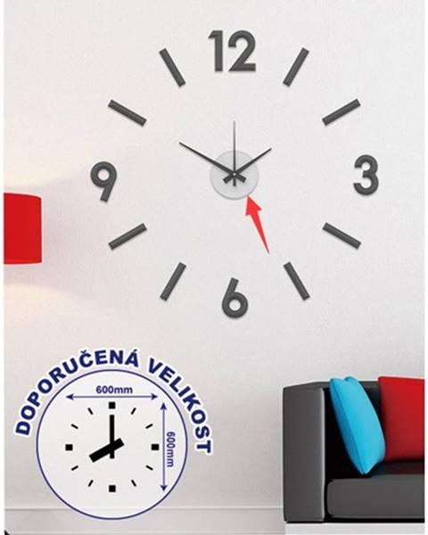 OKAY nábytok Nástenné hodiny - H16, 50 cm, čierna