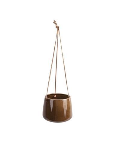 Hnedý keramický závesný kvetináč PT LIVING Unique, ø 19 cm
