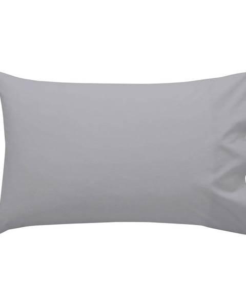 Happy Friday Basic Sivá bavlnená obliečka na vankúš , 40 × 60 cm