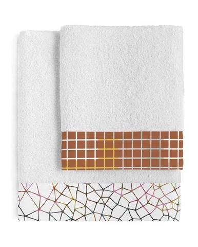 Súprava 2 bavlnených uterákov Blanc Net