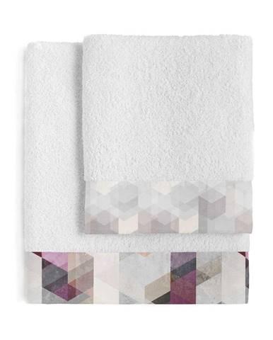Súprava 2 bavlnených uterákov Blanc Pond