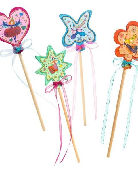 Djeco Set na výrobu 4 kúzelných paličiek Djeco Fairy