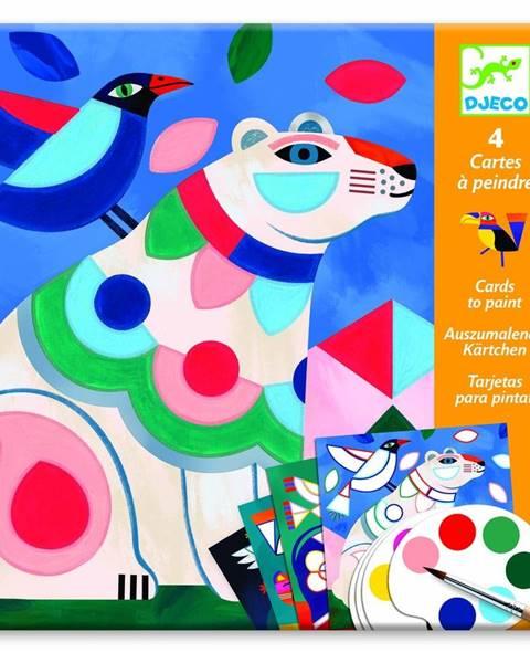 Djeco Set omaľovaniek s vodovými farbami Djeco Vivid
