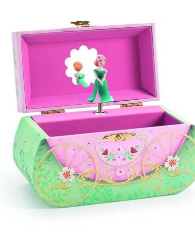 Drevená hracia skrinka Djeco Carriage