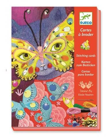 Set pre výrobu 3 karnevalových masiek Djeco Papillon