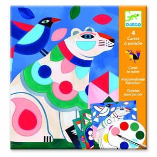 Set omaľovaniek s vodovými farbami Djeco Vivid