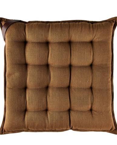 Hnedý bavlnený sedák Södahl, 40x40cm