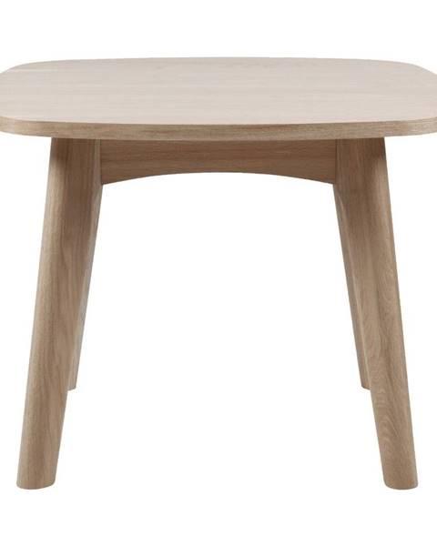 Actona Odkládací stolík s podnožím z dubového dreva Actona Martel, ⌀ 58 cm