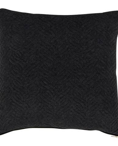 Čierny vankúšik HoNordic Ferrel, 45 × 45 cm