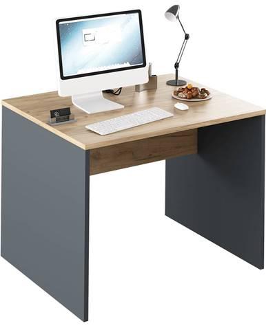 Písací stôl grafit/dub artisan RIOMA NEW TYP 12