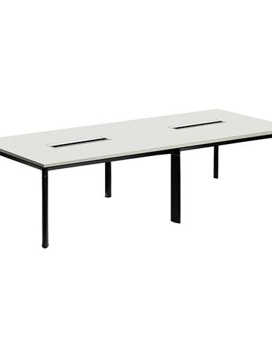 Rokovací stôl biela/čierna DALY