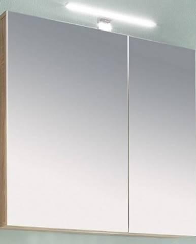 Kúpeľňová skrinka so zrkadlom Porto, dub sonoma%