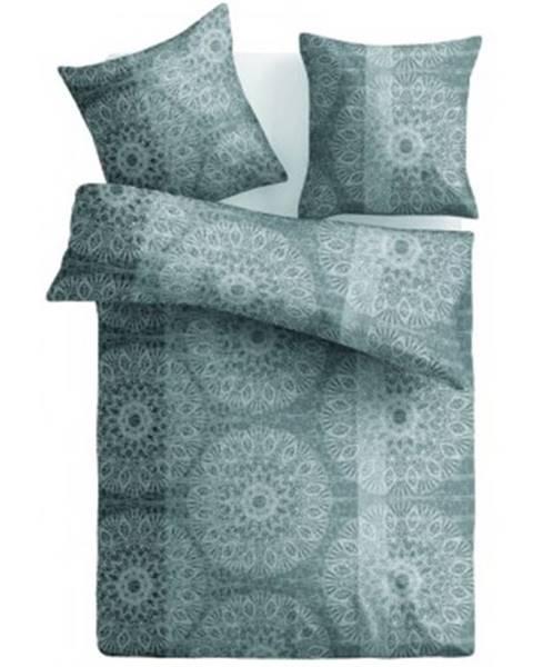 ASKO - NÁBYTOK Obliečky Casa, mikroflanel, šedé/hnedé ornamenty%