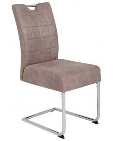 Jedálenská stolička Denise 2, béžová vintage optika koža%