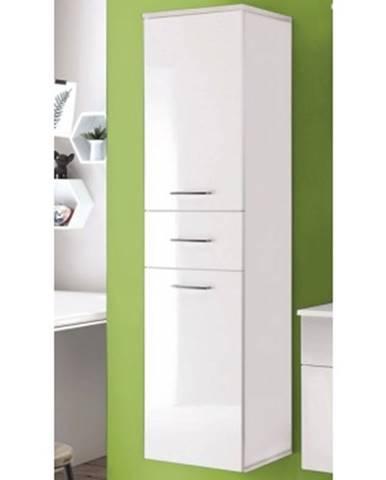 Kúpeľňová vysoká skrinka Splash, lesklá biela%