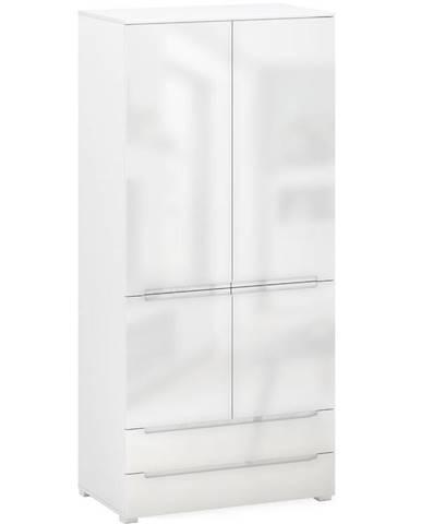 Skriňa Hill Q 4D2S biely lesk