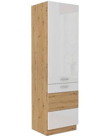 Skrinka do kuchyne ARTISAN biela lesklá 60DK-210 2F