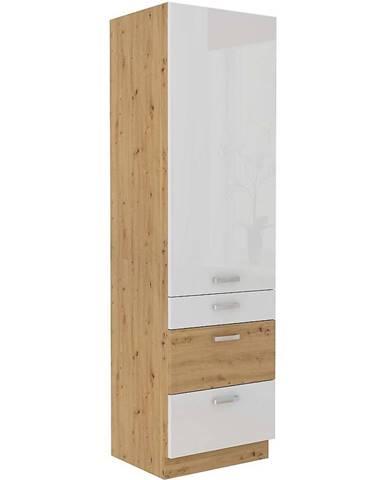 Skrinka do kuchyne ARTISAN biela lesklá 60DKS-210 3S 1F