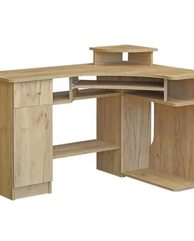 Písací stôl Mariusz Craft zlatý