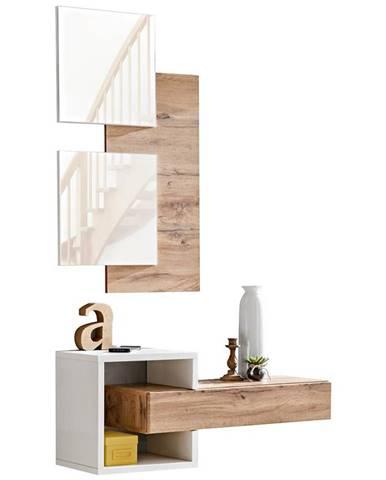 Predsieňový nábytok Easy II wotan/biely