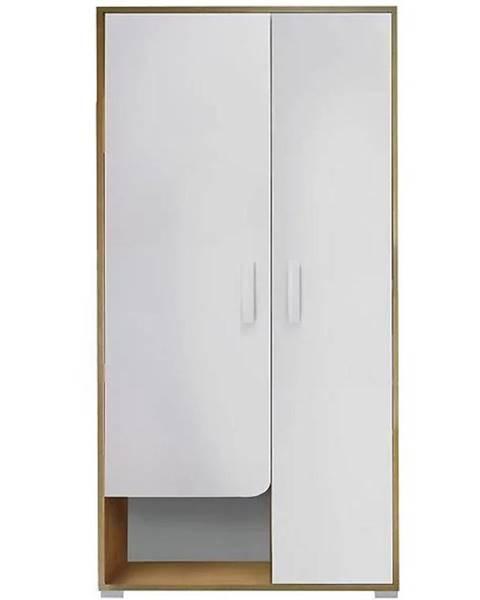 MERKURY MARKET Skriňa Bruno 1 90 cm dub lefkas/biela/žltá