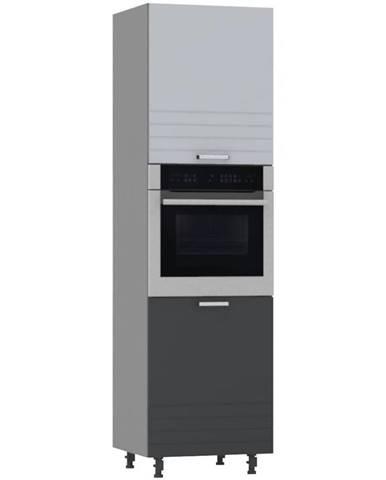 Kuchynská skrinka PAULA šedá D60PK/ P/2133 BB