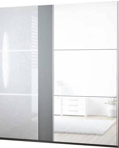 Skriňa Tunis 200 cm biela/fialová  Led