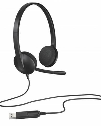 Slúchadlá Logitech Corded H340, s mikrofónom, čierna