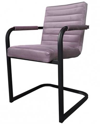 Jedálenská stolička Merenga čierna, svetlo ružová
