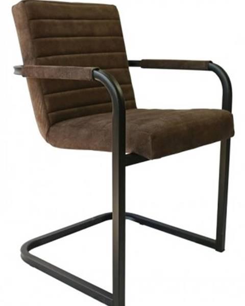 OKAY nábytok Jedálenská stolička Merenga čierna, tmavo hnedá