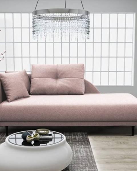 OKAY nábytok Leňoška Ize s úložným priestorom, ľavá strana, ružová