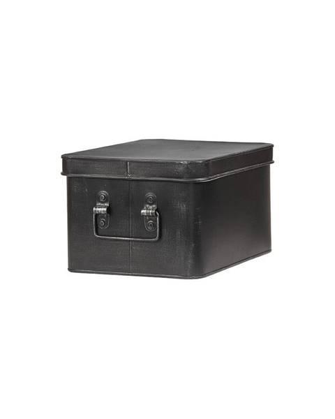 LABEL51 Čierny kovový úložný box LABEL51 Media, šírka 27 cm
