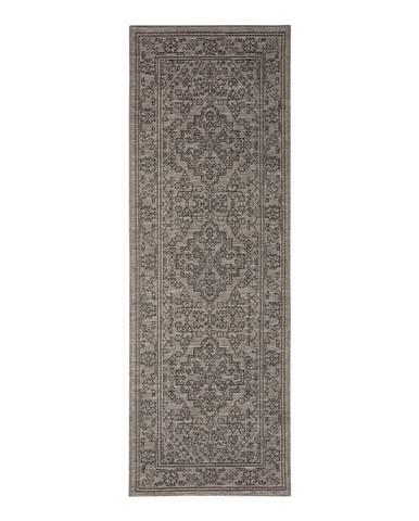 Sivohnedý vonkajší koberec Bougari Tyros, 70 x 200 cm