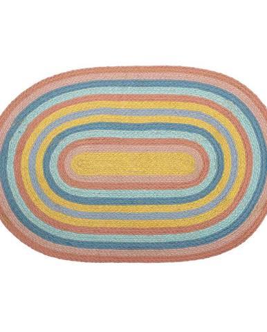 Jutový koberec Bloomingville Rainbow, 50 x 75 cm