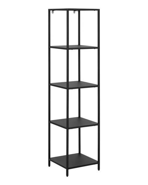 Actona Čierna kovová knižnica so 4 policami Actona Newcastle, šírka 35 cm