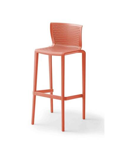Barová stolička Z Plastu spiker Červená