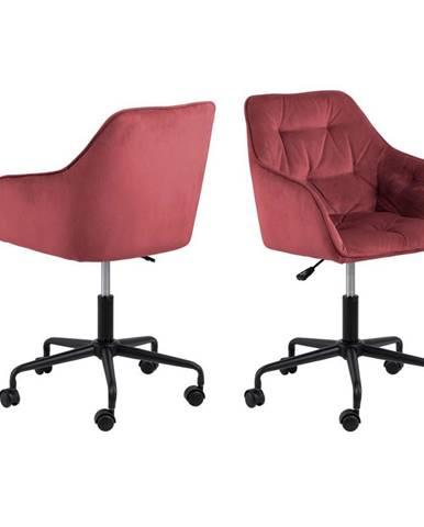 kancelárska stolička Brooke F: korálová, Zamat