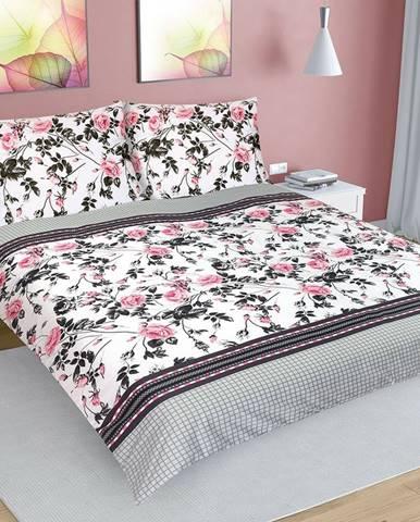 Bellatex Bavlnené obliečky Ruža šípková, 200 x 220 cm, 2 ks 70 x 90 cm