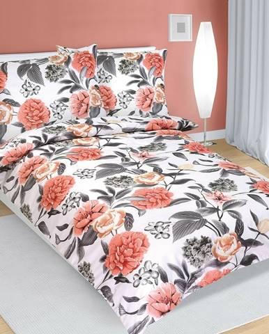 Bellatex Bavlnené obliečky Pivonka , 140 x 200 cm, 70 x 90 cm